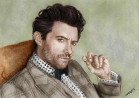 Hugh Jackman drawing. by Saxa-XCII