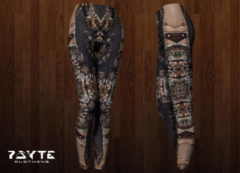 Steampunk Leggings by PsyteClothing