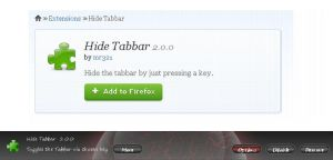 Tab Bar   ( Hide-Show ) by KeybrdCowboy
