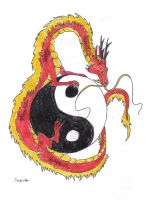 Ying Yang Dragon by XenoPredDragon
