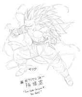 Character Sketch - True Super Saiyan 4 Son Goku by MalikStudios