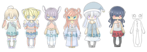 :COLLAB ADOPTS: 5/7 open set price (lowered) by kawaiihoshi-san