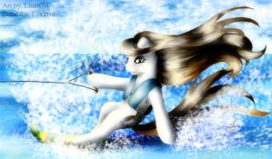Water Skiing by FlyingPony
