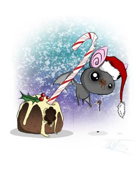 (Figgy) Pudding Bat by BunnyBennett