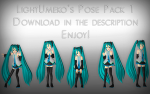 MMD - Pose Pack 1 DL by MissButtler