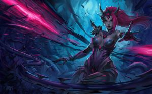 Headhunter Zyra splash art by ropeplay