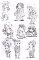 Naruto Chibis by ashestocrows