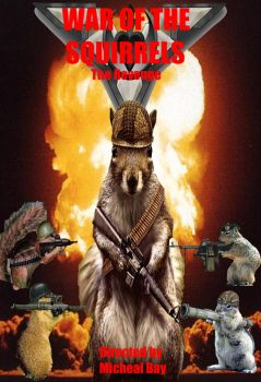 photoshop project 9. War of the Squirrels by RockDaVote
