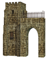 Tower And Arch PNG Stock by Roys-Art