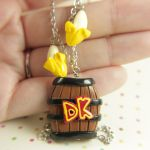Donkey Kong barrel necklace by TrenoNights