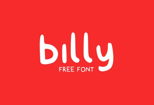 billy typeface (free font) by Tolded