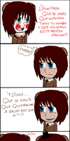 mini -comic:  freddy VS toy freddy (fnaf) by QUEENLISA326