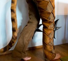 Khajiit greaves/pants by Folkenstal