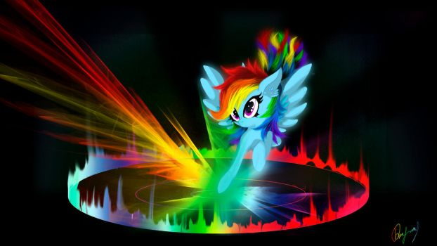 Another Sonic Rainboom by oO-Darksly-Oo