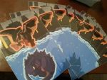 godzilla muto stickers! by DarkHeartsClub