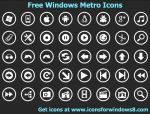 Free Windows Metro Icons by Iconoman