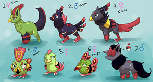 PKMNation: Fall / Voice Clutch [CLOSED] by garbagekeeper