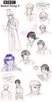 BBC - Sketch Dump 3 Feat. a very bad Sherlock by VampiricYoshi