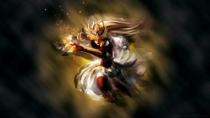 League of Legends - Syndra wallpaper by Soinnes