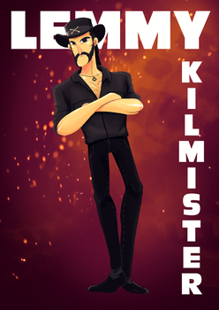 Lemmy Kilmister tribute 1945-2015 by Blakant