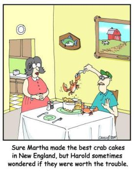 Crab Cake Cartoon by AtomicCheese