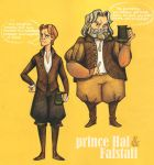 Hal and Falstaff by sn0otchie