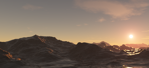 Sunrise on an Ice Planet by SuperArrow