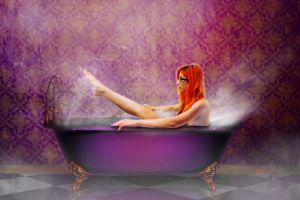 Purple Bath by ladycornicula