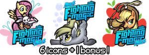 Fighting is Magic - Mane6 (Icons !) by Nattsu-San