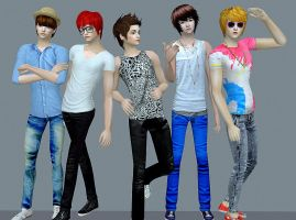 SHINee in Sims 2 by PinkuRuru