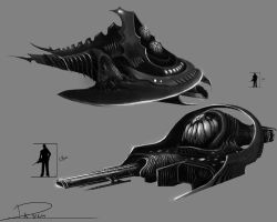 Alien ship designs by duncanli
