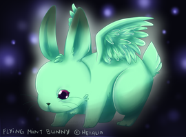 Flying Mint Bunny by PolarAngie