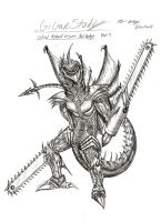 Gigan Study 3 by RenDragonClaw