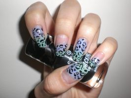 leopard nails by bilazirka