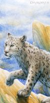 Bookmark - Snow leopard by Dragarta