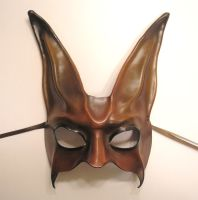 Rabbit Mask in Reddish Brown by teonova