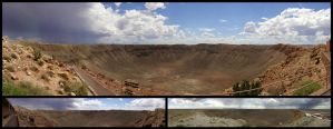 Meteor Crater Panorama Collage by freezejeans