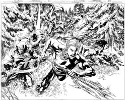 Aquaman Issue 08 Pages 12 and 13 by JoePrado2010