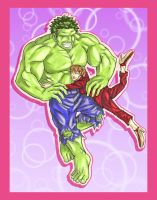 Hulk Love Betty by ibroussardart