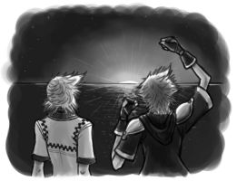 KH Simulacrum:Cheering on Dawn by Naerko
