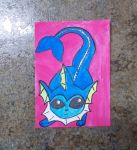 Vaporeon ACEO by chkimbrough
