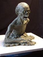 Zombie sculpt- Finished pic 2 by revenant-99