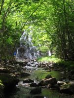 Wentworth waterfall with river by Aeltari