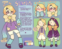 Starlis character ref (ART NOT BY ME) by checkered-crime