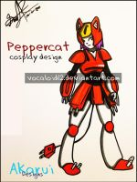Peppercat Cosplay design by Vocaloid12