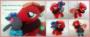 Big Mac and Smarty Pants - My Little Pony Plush by RufousCat