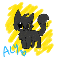 Crayon Practice:: Aly Chibi by Kitzophrenic