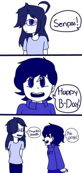 Happy B Day twitchy-senpai !!!! by Doods-101