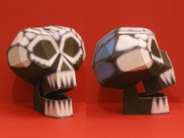 Papercraft Oogie's Manor Skull by Tektonten