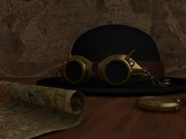 Steampunk googles by daskuehl